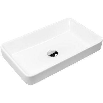 Oltens Fossa umywalka 55x34 cm nablatowa biała 40301000