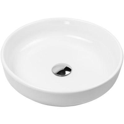 Oltens Fossa umywalka 40 cm nablatowa z powłoką SmartClean biała 40802000