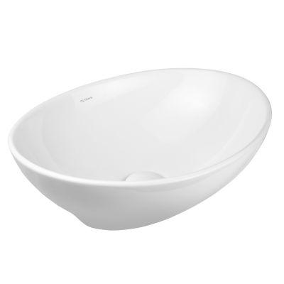 Oltens Etne umywalka 40x33 cm nablatowa owalna z powłoką SmartClean biała 40813000
