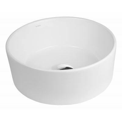 Oltens Lagde umywalka 40 cm nablatowa okrągła biała 40316000