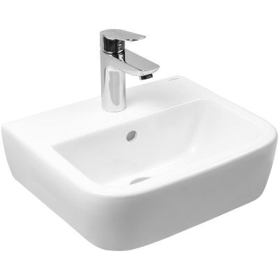 Oltens Vernal umywalka 40x32,5 cm wisząca biała 41003000