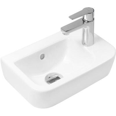 Oltens Vernal umywalka 37x24,5 cm cm wisząca prawa z powłoką SmartClean biała 41505000