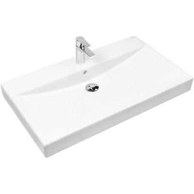 Oltens Hofsa umywalka 80x46 cm nablatowa z powłoką SmartClean biała 41806000