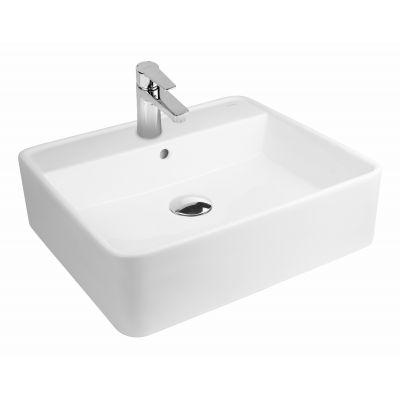 Oltens Duve umywalka 50,5x46 cm nablatowa prostokątna SmartClean biała 41811000