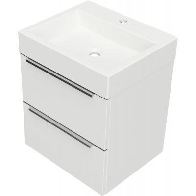 Omnires OmniDream umywalka z szafką 50 cm wiszącą biały połysk DREAMSET5030BP
