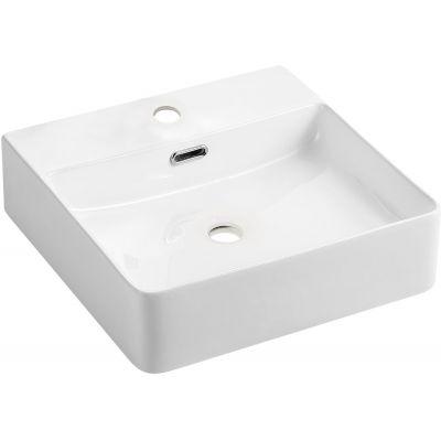Omnires Garland umywalka 43x42 cm prostokątna biała GARLAND420BP