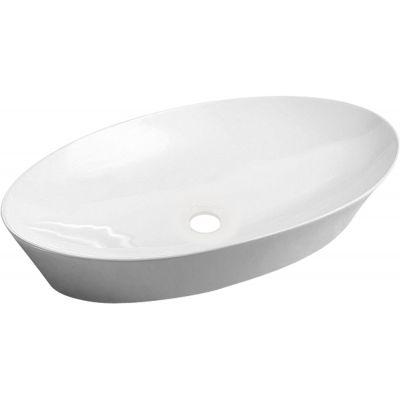 Omnires Laredo umywalka 61x37 cm nablatowa owalna biała LAREDO605BP