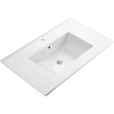 Omnires Orlando umywalka 76x47 cm ścienna prostokątna biała ORLANDO760BP