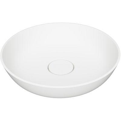 Omnires Silk umywalka 40 cm okrągła nablatowa biały mat SILKR400BM