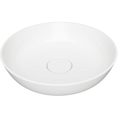 Omnires Silk umywalka 40 cm okrągła nablatowa biały polysk SILKR400BP
