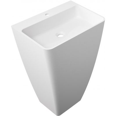 Omnires Parma umywalka 55x43x85 cm wolnostojąca prostokątna biała UWBP