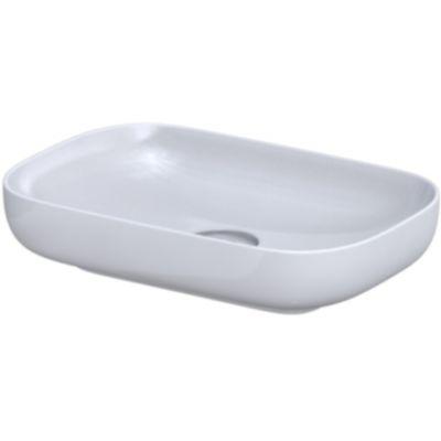 Oristo Premium umywalka 60x40 cm nablatowa biała UBL-PR-60-91