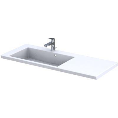 Oristo Brylant umywalka 125x50 cm meblowa prostokątna lewa biała UME-BR-125-92-L