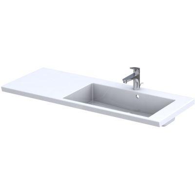 Oristo Brylant umywalka 125x50 cm meblowa prostokątna prawa biała UME-BR-125-92-P