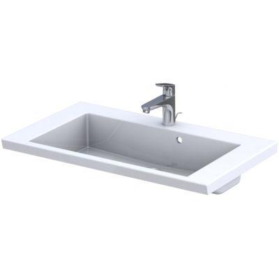 Oristo Brylant umywalka 85x50 cm meblowa prostokątna biała UME-BR-85-92