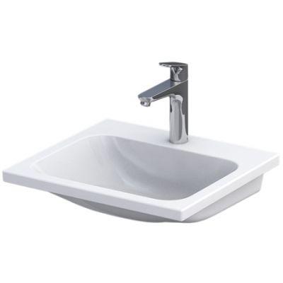 Oristo Cera umywalka 50x46 cm meblowa prostokątna biała UME-CE-50-91