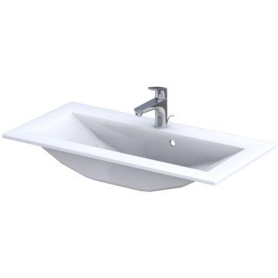 Oristo Silver umywalka 90x45 cm meblowa prostokątna biała UME-SI-90-92