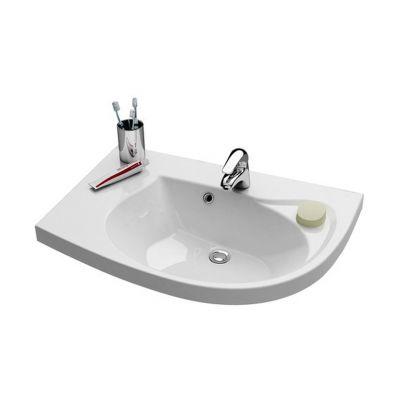 Ravak Rosa Comfort N L umywalka meblowa 78 cm lewa biała XJ8L11N0000