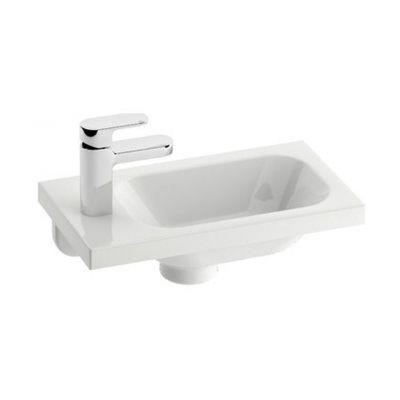 Ravak Chrome 400 umywalka 40x22 cm prostokątna lewa biała XJGL1100000