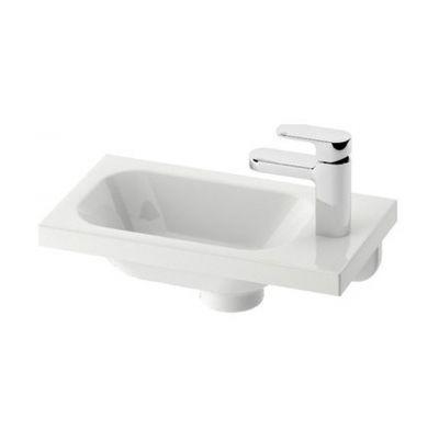 Ravak Chrome 400 umywalka 40x22 cm prostokątna prawa biała XJGP1100000