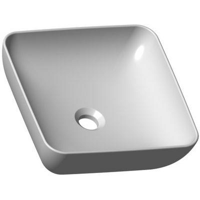 Ravak Uni 380 S Slim umywalka 38 cm nablatowa kwadratowa biała XJX01138001