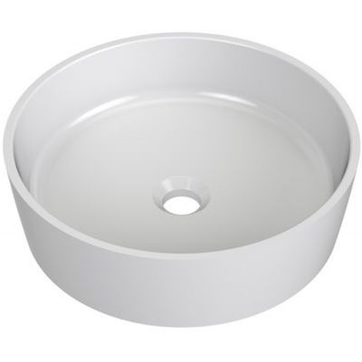 Ravak Uni umywalka 40 cm nablatowa okrągła biała XJX01140001