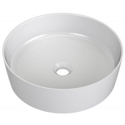 Ravak Uni Slim umywalka 40 cm nablatowa okrągła biała XJX01140002