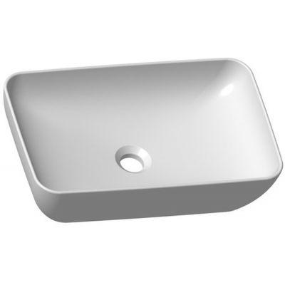 Ravak Uni 500 R SLIM umywalka 50x31 cm nablatowa prostokątna biała XJX01150001