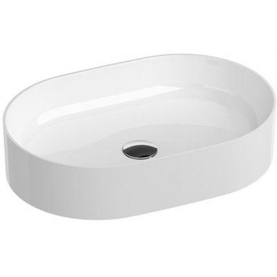 Ravak Ceramic 550 SLIM O umywalka 55x37 cm nablatowa owalna biała XJX01155001