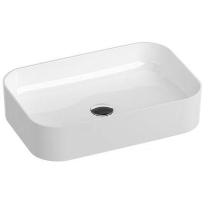 Ravak Ceramic Slim R umywalka 55x37 cm nablatowa prostokątna biała XJX01155002