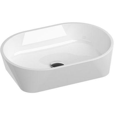 Ravak Solo umywalka 58x40 cm nablatowa prostokątna biała XJX01358000