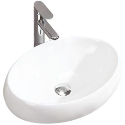 Rea Linda umywalka 48,3x34,1 cm nablatowa biała REA-U0462