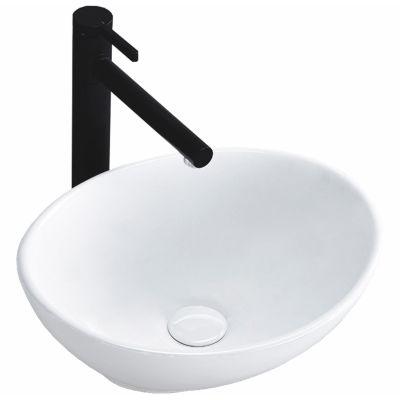 Rea Sofia Mini umywalka 34x27 cm nablatowa biała REA-U0623