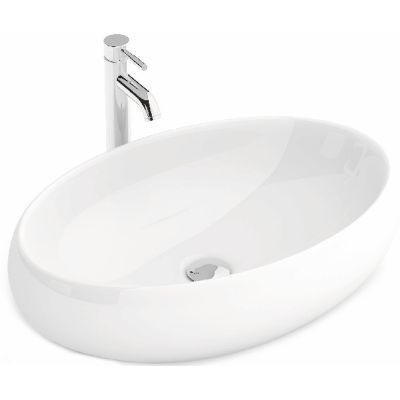 Rea Melania umywalka 60x40,5 cm nablatowa owalna biała REA-U0656