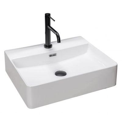 Rea Gina umywalka 59x43 cm nablatowa prostokątna biała REA-U0677