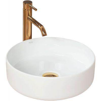 Rea Sami White umywalka 36 cm nablatowa okrągła biała REA-U1891