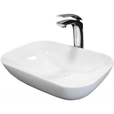 Rea Celia Slim umywalka 50x33 cm nablatowa biała REA-U1952