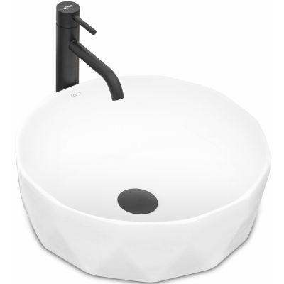 Rea Vista umywalka 41 cm nablatowa okrągła biała REA-U4601