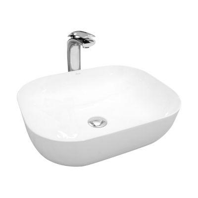 Rea Mona Slim umywalka 50,7x40,2 cm nablatowa prostokątna biała REA-U6300