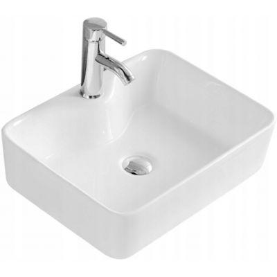 Rea Kelly umywalka 49x38 cm nablatowa biała REA-U6524