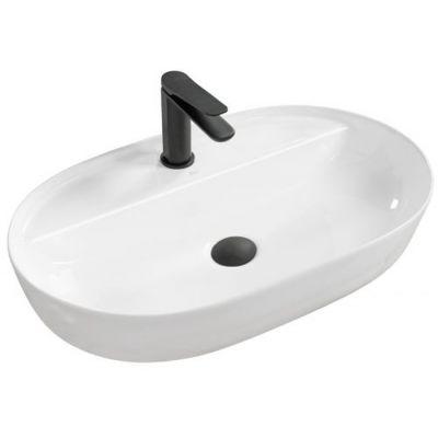Rea Aura umywalka 60x40 cm nablatowa owalna biała REA-U7900