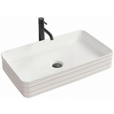 Rea Mezo umywalka 66x37 cm nablatowa prostokątna biała REA-U7902