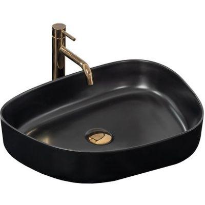 Rea Bella umywalka 55x41 cm nablatowa czarny mat REA-U7904