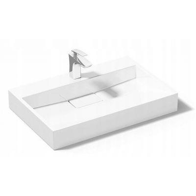 Rea Goya umywalka 60x37 cm nablatowa prostokątna biała REA-U8901