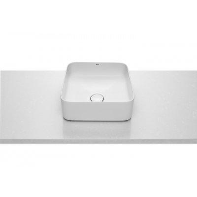 Roca Inspira Square umywalka 37 cm nablatowa kwadratowa biała A327532000