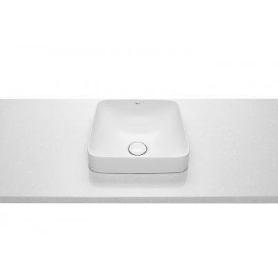 Roca Inspira Square umywalka 37 cm blatowa kwadratowa biała A32753R000