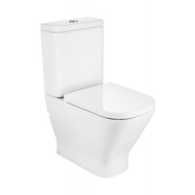 Roca Gap Rimless miska WC Rimless kompaktowa Maxi Clean biała A34273700M