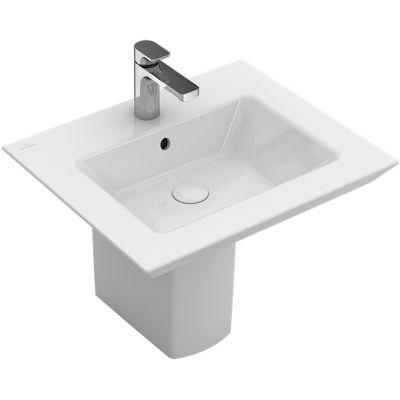 Villeroy & Boch Legato umywalka 60x50 cm prostokątna CeramicPlus Weiss Alpin 415161R1
