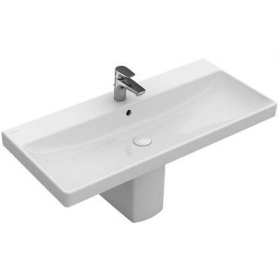 Villeroy & Boch Avento umywalka 100x47 cm prostokątna Weiss Alpin 4156A201