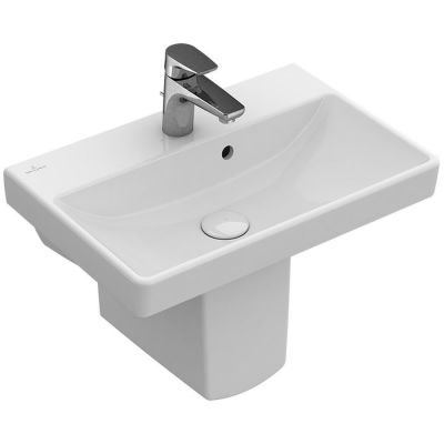 Villeroy & Boch Avento umywalka 55x37 cm prostokątna CeramicPlus Weiss Alpin 4A0055R1